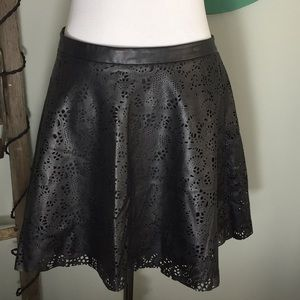Guess faux leather mini skirt